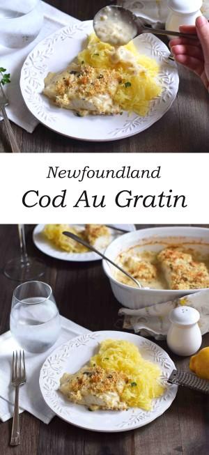 Traditional Newfoundland Cod au Gratin
