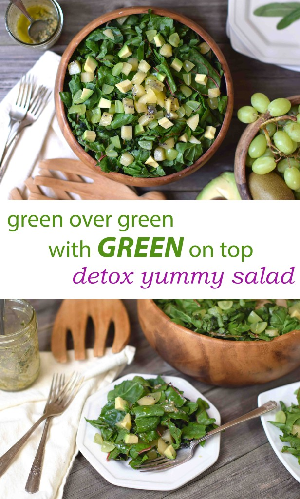 Say goodbye to summer with the greenest of salads: green over green with green on top! Easy, healthy, feel-good!