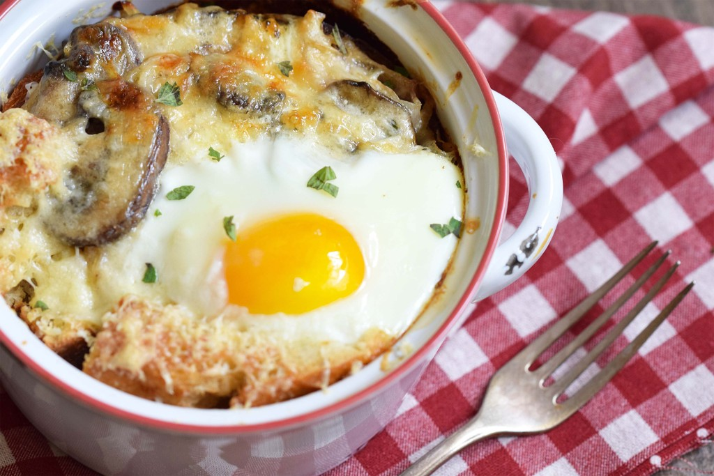 croque madame in a pot