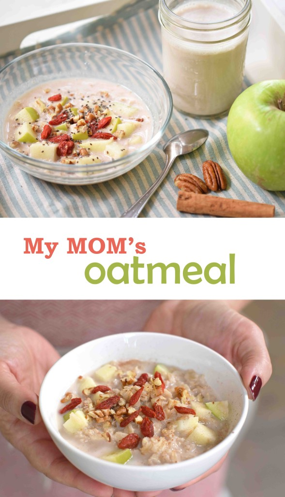 my mom's delicious oatmeal recipe. The secret is cooking it with a cinnamon stick!
