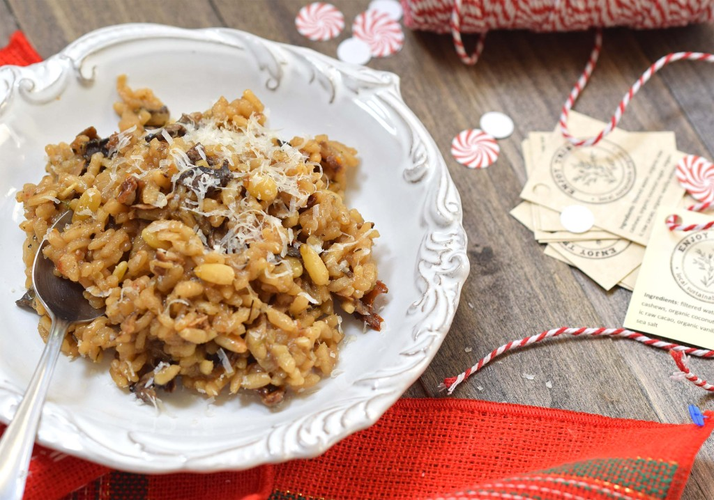 mushroom risotto made from dried mushrooms