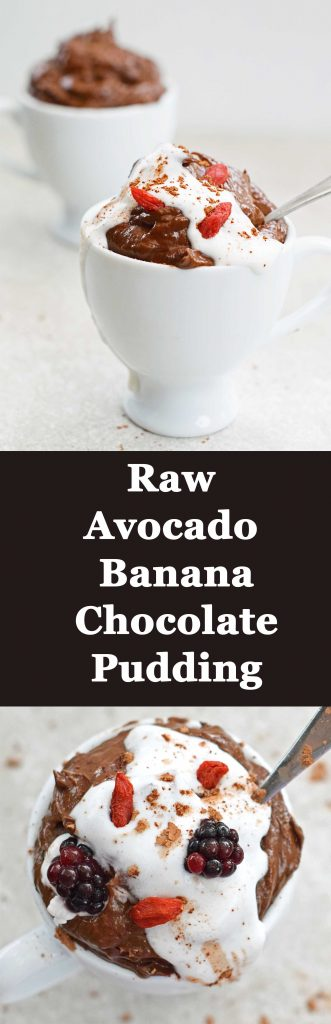 Raw Avocado Banana Chocolate Pudding - healthy, easy and ready in 5 minutes!