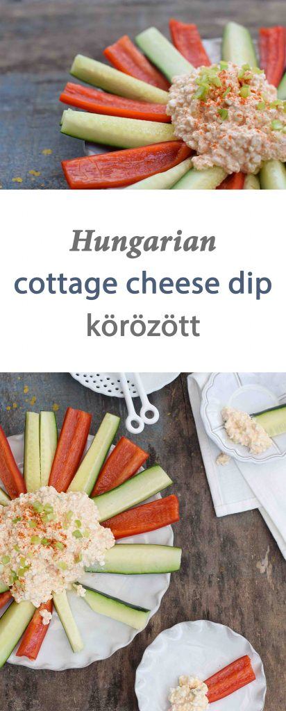 Hungarian Cottage Cheese Dip - a savory way to eat cottage cheese and a protein-packed snack